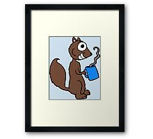 Coffee Squirrel Framed Print