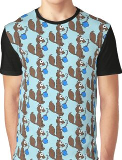 Coffee Squirrel Graphic T-Shirt