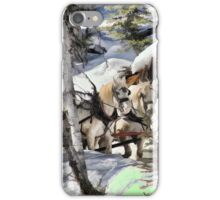 Horses in the Winter iPhone Case/Skin
