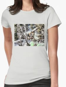 Horses in the Winter Womens Fitted T-Shirt
