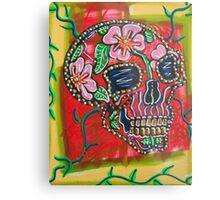 Skull of Flowers Metal Print