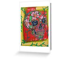 Skull of Flowers Greeting Card