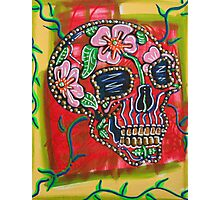 Skull of Flowers Photographic Print