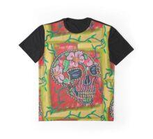 Skull of Flowers Graphic T-Shirt