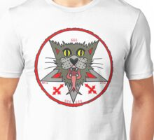 Gray Cat on white Unisex T-Shirt