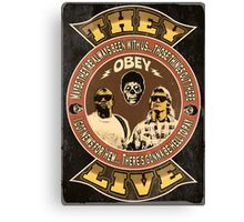 They Live Vintage Canvas Print