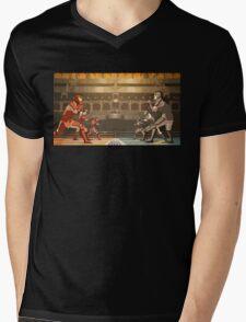 Minimalistic Pro-Bending Mens V-Neck T-Shirt