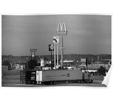 Lincoln, Nebraska - Trucks, Gas and Motels Poster
