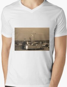 Lincoln, Nebraska - Trucks, Gas and Motels Mens V-Neck T-Shirt