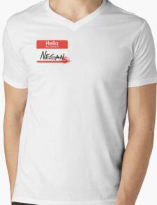 Hello, my name is Negan Mens V-Neck T-Shirt