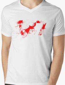 187 (Red) Mens V-Neck T-Shirt