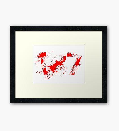 187 (Red) Framed Print