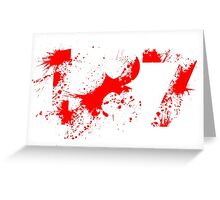 187 (Red) Greeting Card