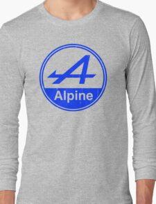 Alpine Blue Vintage Graphic Long Sleeve T-Shirt