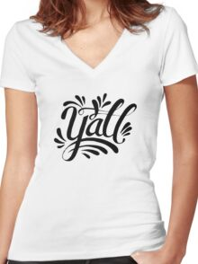 Y'all Women's Fitted V-Neck T-Shirt