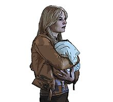 Emma Holding Baby Neal Color (Once Upon A Time) Photographic Print