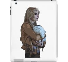 Emma Holding Baby Neal Color (Once Upon A Time) iPad Case/Skin