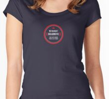 """PSG's Zlatan Ibrahimovic: """"MISS ME?"""" (small logo) Women's Fitted Scoop T-Shirt"""