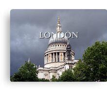 St Paul's Cathedral, London (caption) Canvas Print
