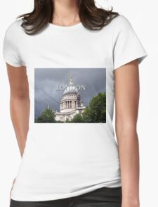 St Paul's Cathedral, London (caption) Womens Fitted T-Shirt