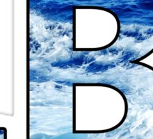Long Beach Island Wave Letters Sticker