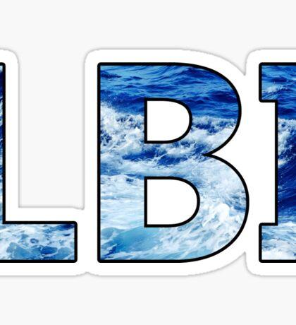 Long Beach Island Wave Letters Sticker