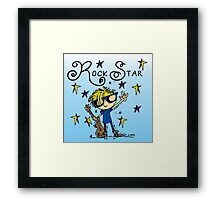 Blond Boy Rock Star Framed Print