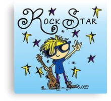 Blond Boy Rock Star Canvas Print