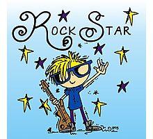 Blond Boy Rock Star Photographic Print