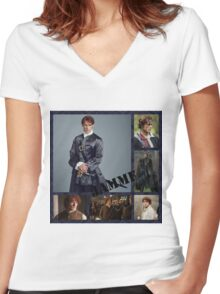 JAMMF/Outlander Women's Fitted V-Neck T-Shirt