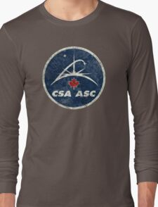 Vintage Emblem Canadian Space Agency Long Sleeve T-Shirt