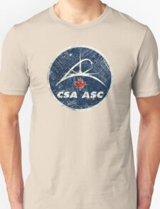 Vintage Emblem Canadian Space Agency Unisex T-Shirt