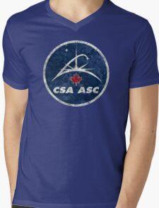 Vintage Emblem Canadian Space Agency Mens V-Neck T-Shirt