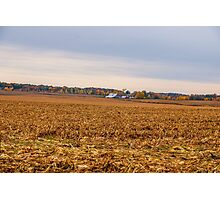 Autumn On An Indiana Farm Photographic Print