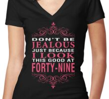Dont' Be Jealous - 49 Women's Fitted V-Neck T-Shirt