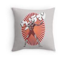 UltraMan Japanese Fun Time Throw Pillow