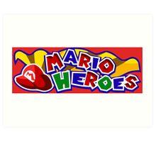 The Mario Heroes Art Print