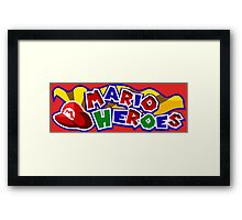 The Mario Heroes Framed Print