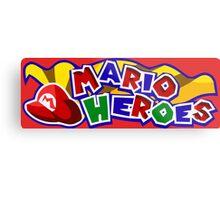 The Mario Heroes Metal Print