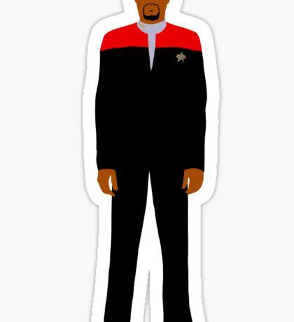 Star Trek - Minimalist Sisko Sticker