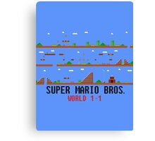 Super Mario Bros. World 1-1 Canvas Print