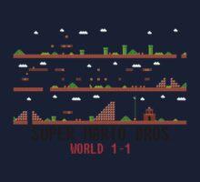 Super Mario Bros. World 1-1 Kids Tee