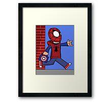 The Spectacular Spider-Kid Framed Print
