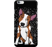 Starry English Bull Terrier Red and White iPhone Case/Skin