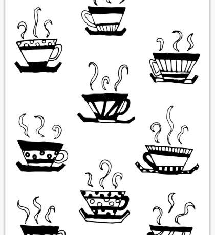Tea cups!  Sticker