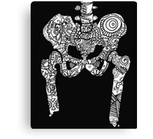 Dancing Tattooed Hip Bones from the Sugar Skull All Over Series Canvas Print