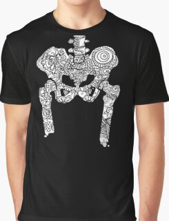 Dancing Tattooed Hip Bones from the Sugar Skull All Over Series Graphic T-Shirt