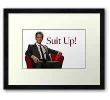 Barney Stinson- Suit Up Framed Print