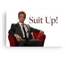 Barney Stinson- Suit Up Canvas Print
