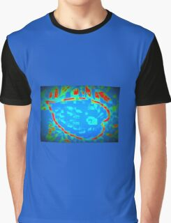 The Abstract leaf-shaped flower Graphic T-Shirt